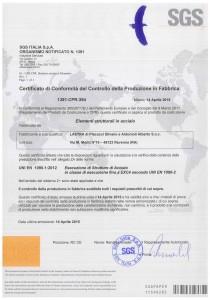 copia certificato EN 1090-1